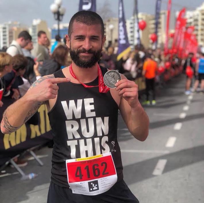Malta Half Marathon raccontata da Vincenzo Docimo medaglia
