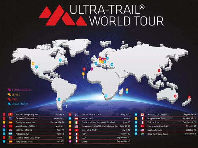 Si è aperto l'Ultra Trail World Tour 2019