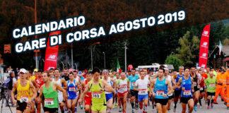 Calendario gare di corsa nel mese di agosto 2019