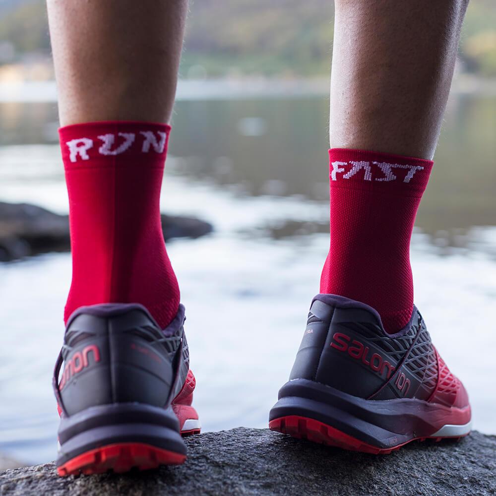 Classic Run Fast socks rosso retro