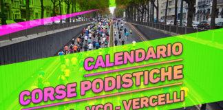 Calendario corse podistiche Novara VCO Vercelli