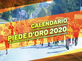 Calendario gare Piede d'Oro 2020