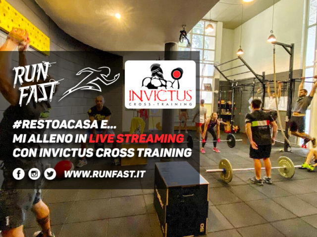 #iorestoacasa e... mi alleno in live streaming con Invictus Cross Training