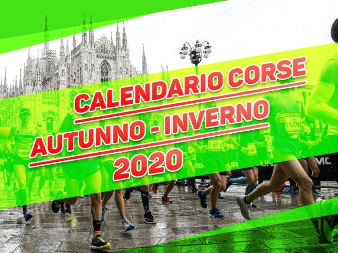 Calendario corse autunno-inverno 2020